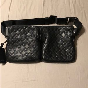 Tumi leather quilted fanny pack